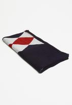 Pringle of Scotland - Tilly ribbed scarf - navy