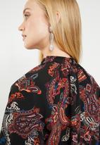 Superbalist - Elasticated hi neck blouse - multi