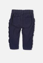 Cotton On - Eve ruffle cord pant - navy
