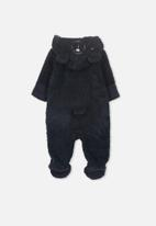 Cotton On - Marshmallow polar bear romper - navy