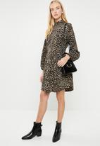 dailyfriday - Leopard print dress - brown animal