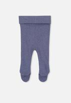 Cotton On - The footed rib legging - navy