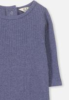 Cotton On - The rib snap romper - navy