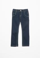 name it - Sofus regular denim pants - navy