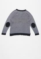 name it - Tabon ls knit top - white & navy