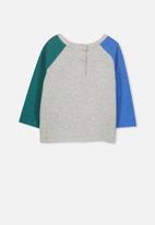 Cotton On - Roy raglan long sleeve bubbysuit - multi