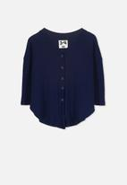 Cotton On - Bexley button through top - navy