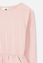 Cotton On - Mara long sleeve dress - pink