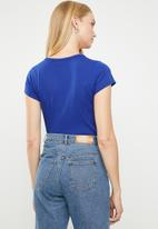 G-Star RAW - Graphic 26 slim compact jersey tee - blue