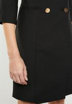 STYLE REPUBLIC - Double breasted blazer dress - black