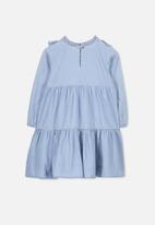 Cotton On - Laura long sleeve dress - blue