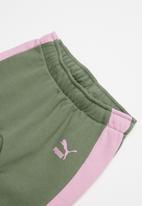 PUMA - Minime prime t7 crew jogger - khaki & pink