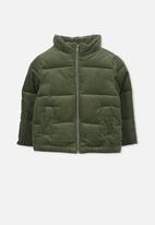 Cotton On - Millie cord puffer - green