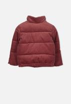 Cotton On - Millie cord puffer - burgundy