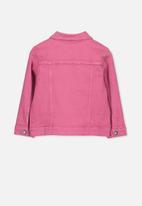 Cotton On - Daisy denim jacket - pink