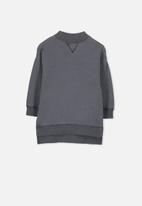 Cotton On - Olivia oversize high neck fleece top - grey