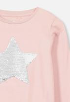 Cotton On - Stevie long sleeve embellished tee - pink