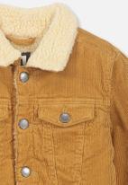 Cotton On - Jaime cord sherpa jacket - tan