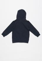 name it - Bakko cool print hoodie sweat - navy
