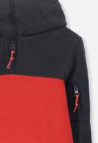 Cotton On - Packer hoodie - black & red