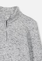 Cotton On - Spencer 1-2 zip crew - grey