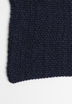 Superbalist - Moss stitch scarf - navy