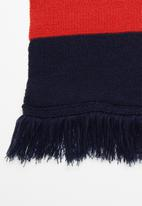 Superbalist - Broad stripe scarf - red & navy