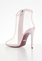 Plum - Translucent ankle boot - light pink
