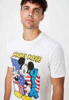 Cotton On - Mickey flag Tbar collab character tee - white