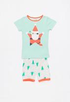 Cotton On - Joshua short sleeve santa pirate pyjama set - multi
