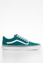 Vans - Ua old skool - (check foxing) quetzal green & true white