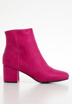 ONLY - Bimba heeled tube bootie - pink