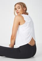 Cotton On - Cross over tank top  - white