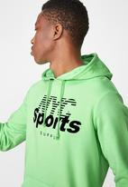 Cotton On - NYC sports supply fleece pullover  - green