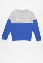 Quiksilver - Power slash crew youth - grey & blue