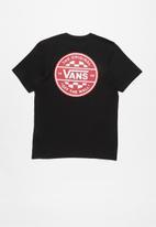 Vans - Checker co. short sleeve tee - black & red