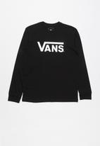 Vans - Vans classic long sleeve top - black & white
