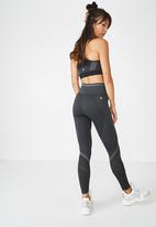 Cotton On - Banded seamfree tight  - black