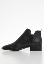 ALDO - Leather slip-on ankle boot - black