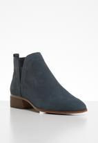 ALDO - Araecien leather boot - navy nubuck