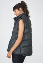 Cotton On - Jungle snake puffer vest  - grey