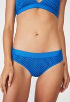 Cotton On - Sporty femme bikini brief  - blue