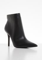 ALDO - Faux leather stiletto ankle boot - black