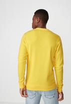 Cotton On - Bliss in oblivion crew fleece -  yellow