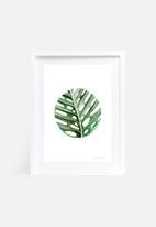 Shealeen Louise - Circular monstera leaf