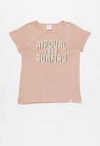 Rip Curl - Teen essential surf tee - pink