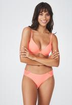 Cotton On - Party pants seamless brasiliano brief  - orange