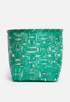 Sixth Floor - Romeo bamboo basket - green