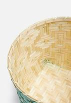 Sixth Floor - Romeo bamboo basket - green