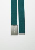 Jack & Jones - Solid woven belt - deep teal